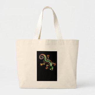 Fractalius Lizard Large Tote Bag