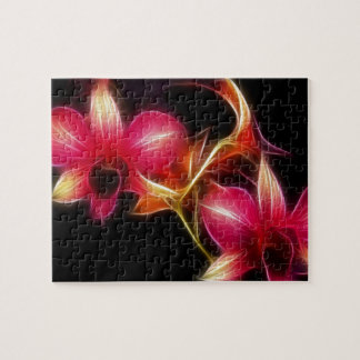 Fractalius Pink Orchid Jigsaw Puzzle