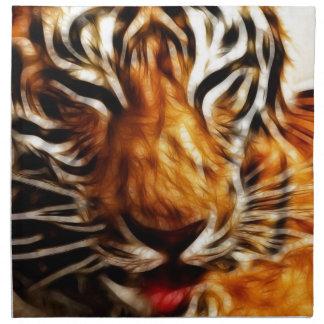 Fractalius Tiger Napkin