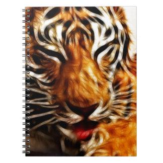 Fractalius Tiger Spiral Notebook