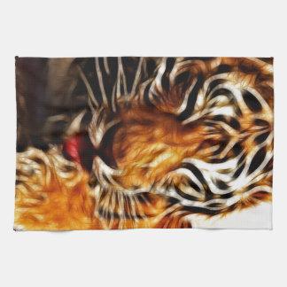 Fractalius Tiger Tea Towel