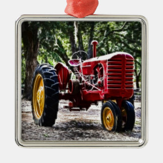 Fractalius Tractor Christmas Ornament