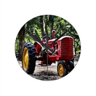 Fractalius Tractor Round Clock