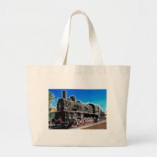 Fractalius Train Large Tote Bag