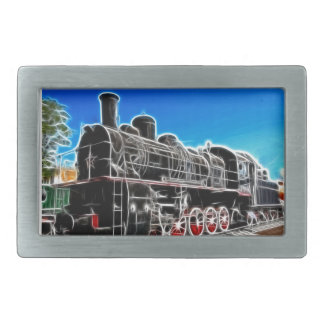 Fractalius Train Rectangular Belt Buckles