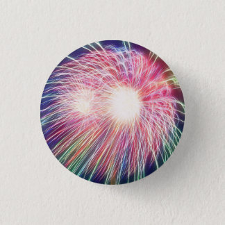 Fractalized Fireworks 3 Cm Round Badge