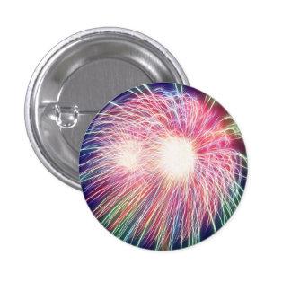 Fractalized Fireworks 3 Cm Round Badge