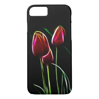 Fractalized red tulips iPhone 7 case