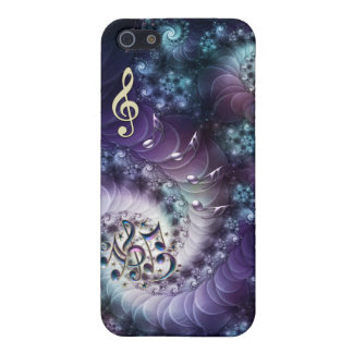 Fractilicious Outer Space Music Notes 4 iPhone iPhone 5 Covers
