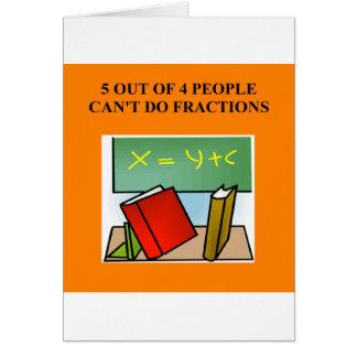 fraction math joke card