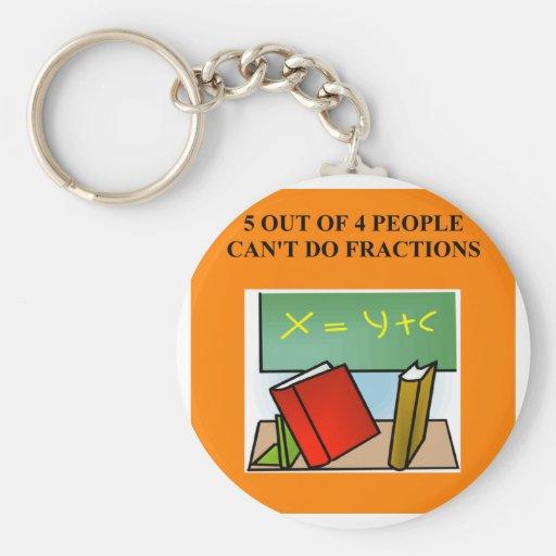 fraction math joke key chain