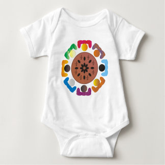 Fractions Baby Bodysuit