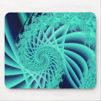 Fractural spiral mouse pad