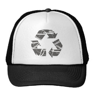 Fractured Gray Recycle Sign Hat
