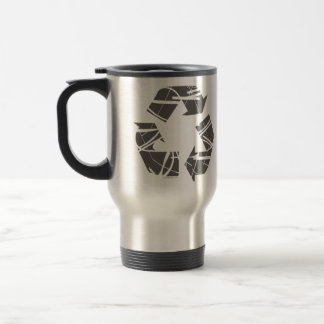 Fractured Gray Recycle Sign Mug