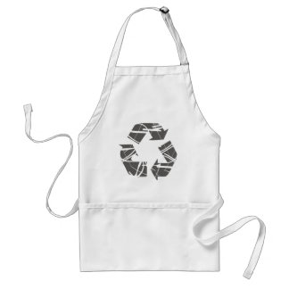 Fractured Gray Recycle Sign Standard Apron
