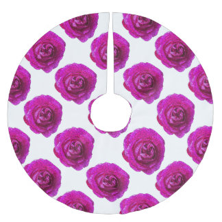 Fractured Rose Pink Brushed Polyester Tree Skirt
