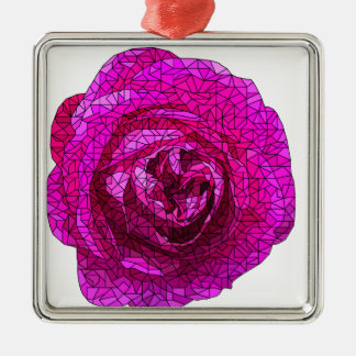 Fractured Rose Pink Christmas Ornament