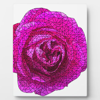 Fractured Rose Pink Plaque