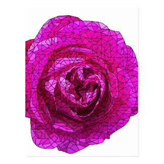 Fractured Rose Pink Postcard