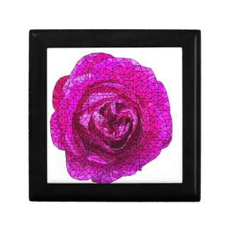 Fractured Rose Pink Small Square Gift Box