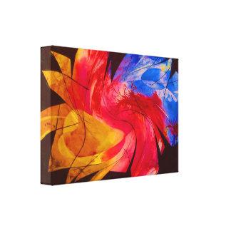 fractured space trip, warped1 canvas prints