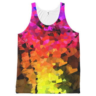 Fractures All-Over Print Tank Top