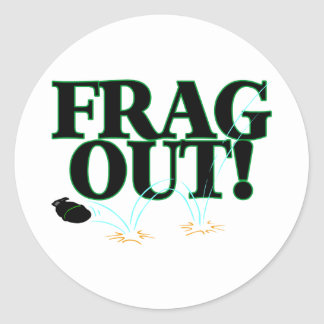 Frag Out Classic Round Sticker