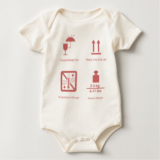 fragile baby girl baby bodysuit