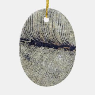 Fragile Fossil Plant Leaf Ceramic Oval Decoration