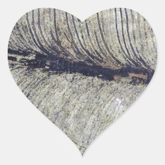 Fragile Fossil Plant Leaf Heart Sticker