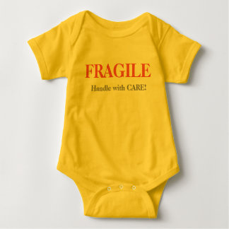 FRAGILE- Handle with CARE! Baby Bodysuit