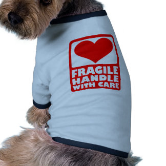 Fragile handle with care dog tee