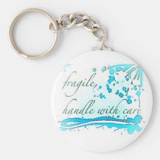 fragile handle with care keychain