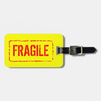 Fragile luggage tag for bag and suitcases