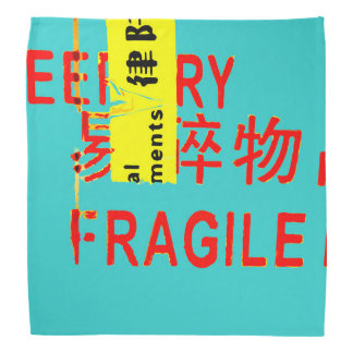 FRAGILE Markings - Torn Peeled Package Bandana