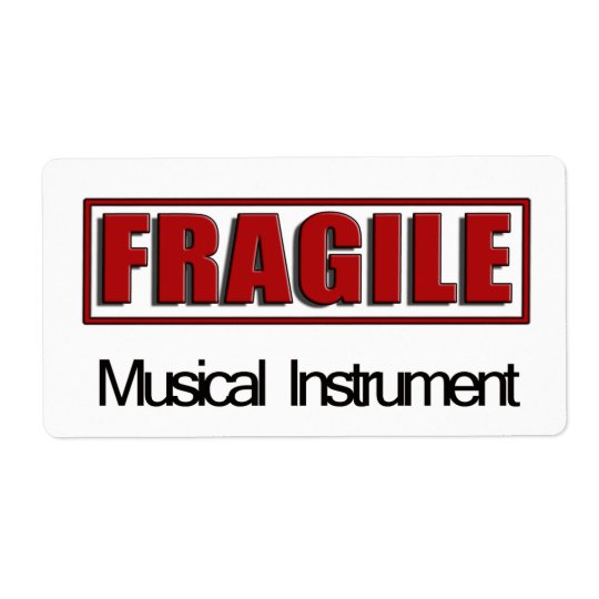 Fragile Musical Instrument Labels