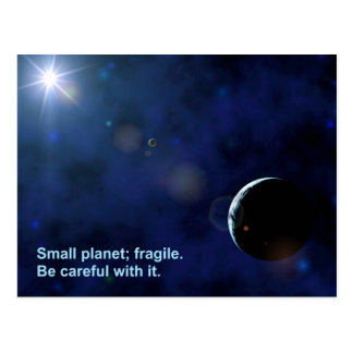 Fragile Planet Postcard