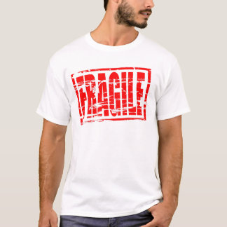 Fragile red rubber stamp effect T-Shirt