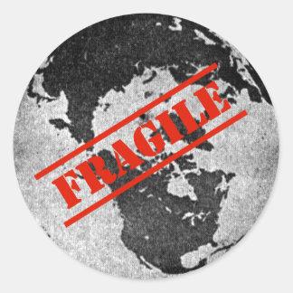 Fragile Round Sticker