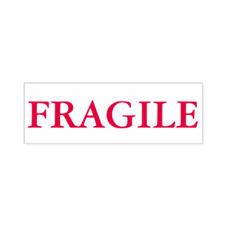"""FRAGILE"" Self Inking Stamp In Red Ink"