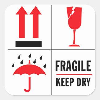 Fragile Shipping Label Square Sticker