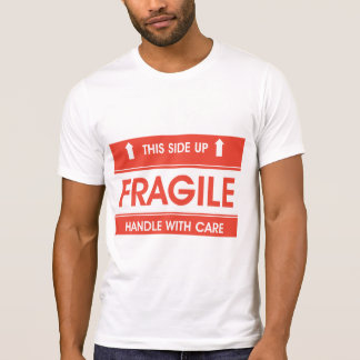 Fragile Sign Mens T-Shirt