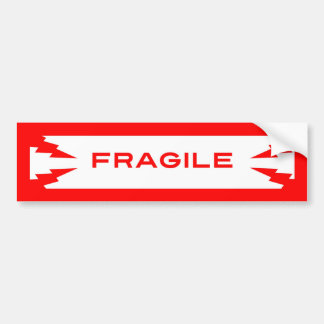 Fragile Symbol Bumper Sticker