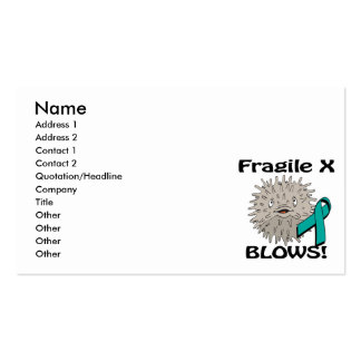 Fragile X Blows Awareness Design Pack Of Standard Business Cards