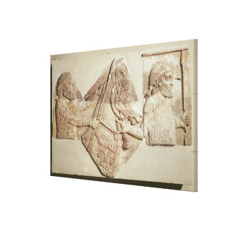 Fragment of a depicting Median tributaries Gallery Wrapped Canvas