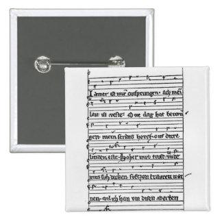 Fragment of a poem 15 cm square badge