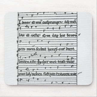Fragment of a poem mouse mat