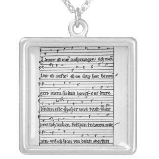 Fragment of a poem custom jewelry