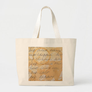 fragment of a recipe canvas bag